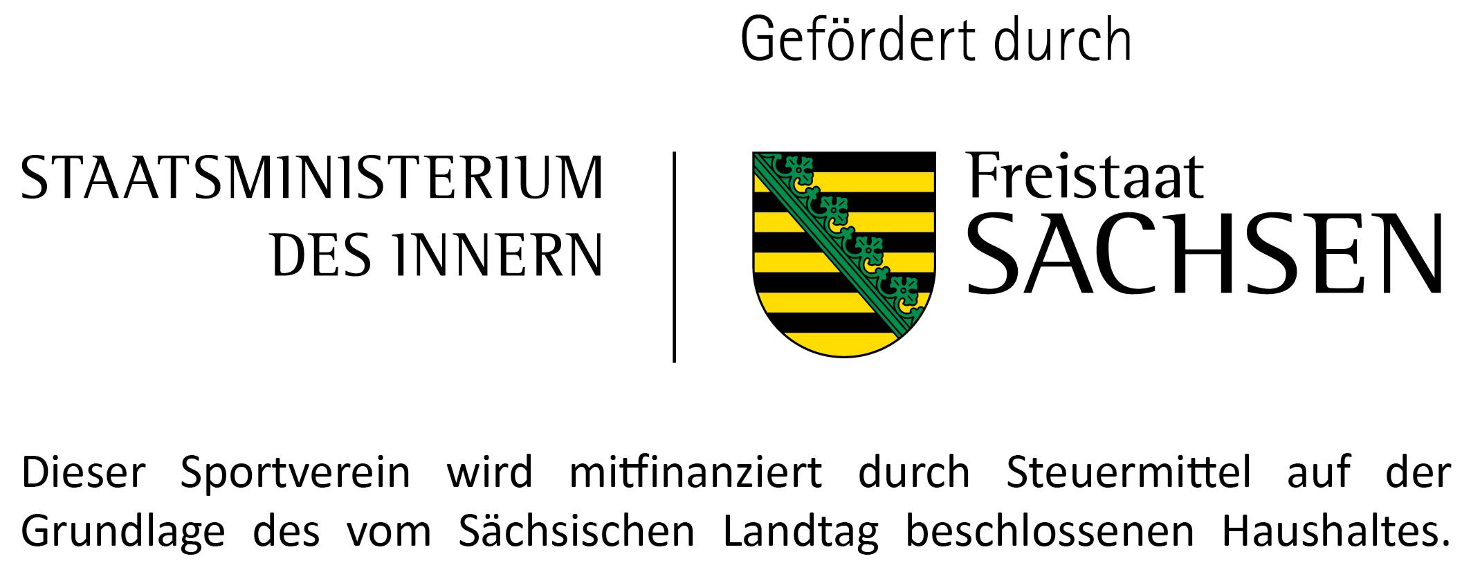 Dieser Sportverein wird mitfinanziert durch Steuermittel auf der Grundlage des vom Sächsischen Landtag beschlossenen Haushaltes.
